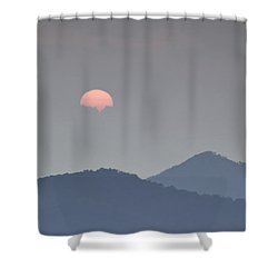 Sunset Repition - Blue Ridge Parkway Sunset Scene Shower Curtain by Rob Travis