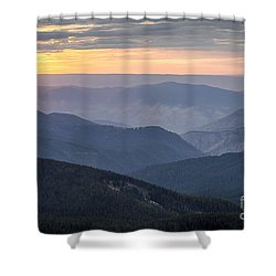 Sunset Ridges Shower Curtain