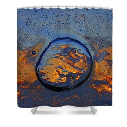 Sunset Rings Shower Curtain by Sami Tiainen