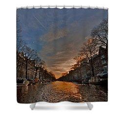Sunset Ripples Shower Curtain