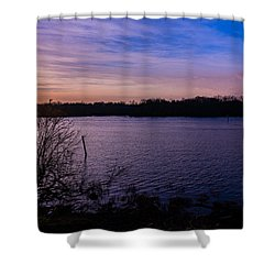 Sunset River Shower Curtain
