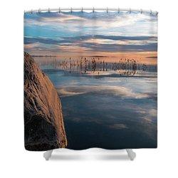 Sunset Rock Shower Curtain by Justin Johnson