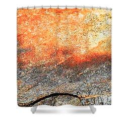 Sunset Rock Scene Shower Curtain