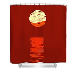 Sunset Shower Curtain by Roger Lighterness