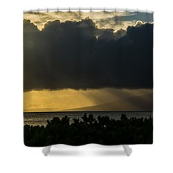 Shower Curtain featuring the photograph Sunset Sail by Colleen Coccia