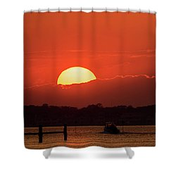 Sunset Sail October 2016 Lavallette Nj Shower Curtain