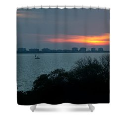 Sunset Sail On Sarasota Bay Shower Curtain