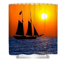 Sunset Sailing In Key West Florida Shower Curtain