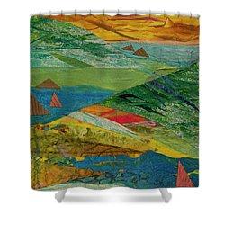 Sunset Sails 3 Shower Curtain