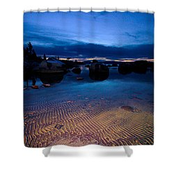Sunset Sand Ripples Shower Curtain by Sean Sarsfield