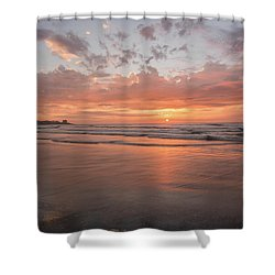 Sunset Scripps Beach Pier Img 5 La Jolla San Diego Ca Shower Curtain by Bruce Pritchett