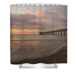 Sunset Scripps Beach Pier La Jolla San Diego Ca Image 4  Shower Curtain