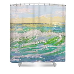 Sunset Seascape 6 Shower Curtain by Judi Goodwin