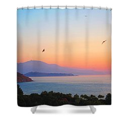 Sunset Serenade Shower Curtain by Andreas Thust