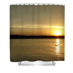 Sunset Shelbyville Il Shower Curtain