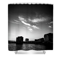 Shower Curtain featuring the photograph Sunset Silhouette by Eric Christopher Jackson