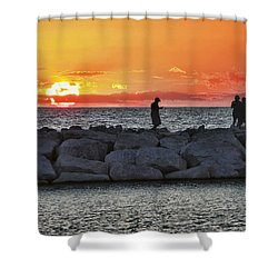 Sunset Silhoutte Shower Curtain