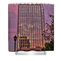 Sunset Skyscraper Shower Curtain