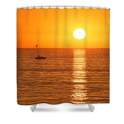 Sunset Solitude Shower Curtain by Ed Clark