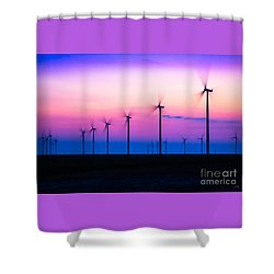 Sunset Spinning Shower Curtain