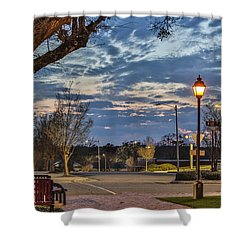 Sunset Square Shower Curtain