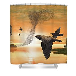 Murmuration Shower Curtain