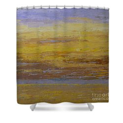 Sunset Storm Clouds Shower Curtain