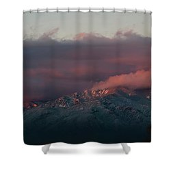 Sunset Storm On The Sangre De Cristos Shower Curtain by Jason Coward