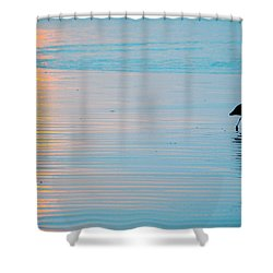 Shower Curtain featuring the photograph Sunset Stroll by AJ  Schibig