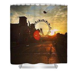 #sunset #sunsetlovers #sunrise #horizon Shower Curtain