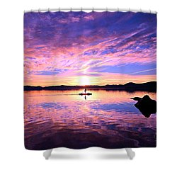 Sunset Supper Shower Curtain by Sean Sarsfield