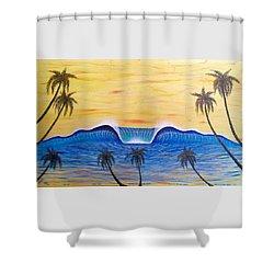 Sunset Surf Dream Shower Curtain