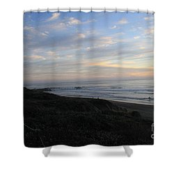 Sunset Surf Shower Curtain by Linda Woods