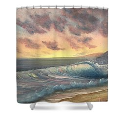 Sunset Surf  Shower Curtain