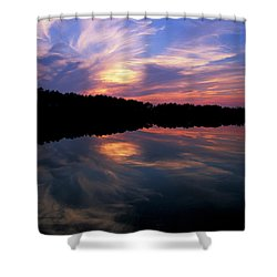 Shower Curtain featuring the photograph Sunset Swirl by Steve Stuller