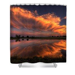 Sunset Symmetry Shower Curtain