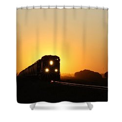 Sunset Express Shower Curtain