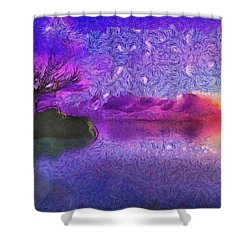 Sunset Tribute To Van Gogh Shower Curtain