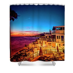 Sunset Twilight At The Laguna Riviera Shower Curtain