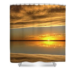 Sunset Under The Clouds Shower Curtain by Rob Graham