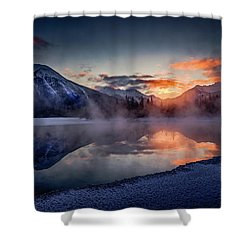 Sunset, Vermilion Lakes Shower Curtain
