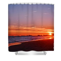 Shower Curtain featuring the photograph Sunset Vibrance by Kelly Nowak