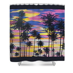 Sunset View Shower Curtain by Anne Marie Brown