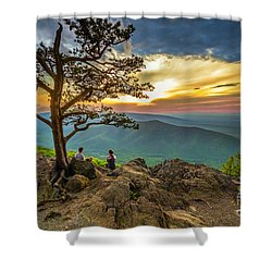 Sunset View At Ravens Roost Shower Curtain