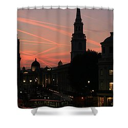 Sunset View From Charing Cross  Shower Curtain