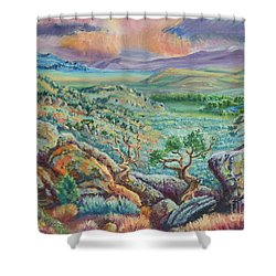 Sunset View From The Cedar Breaks Shower Curtain by Dawn Senior-Trask