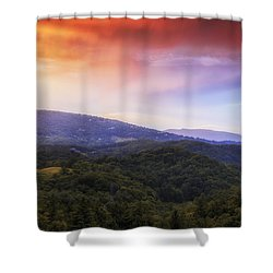 Shower Curtain featuring the photograph Sunset View Of The Blue Ridge by Andrew Soundarajan