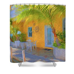 Sunset Villas Waterfront Apartment Shower Curtain