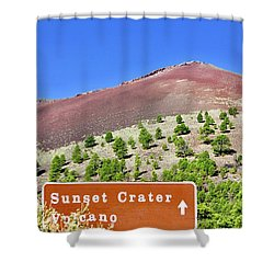 Sunset Crater Volcano Shower Curtain
