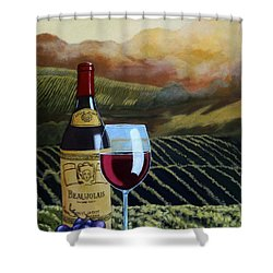 Sunset W/beaujolais Shower Curtain